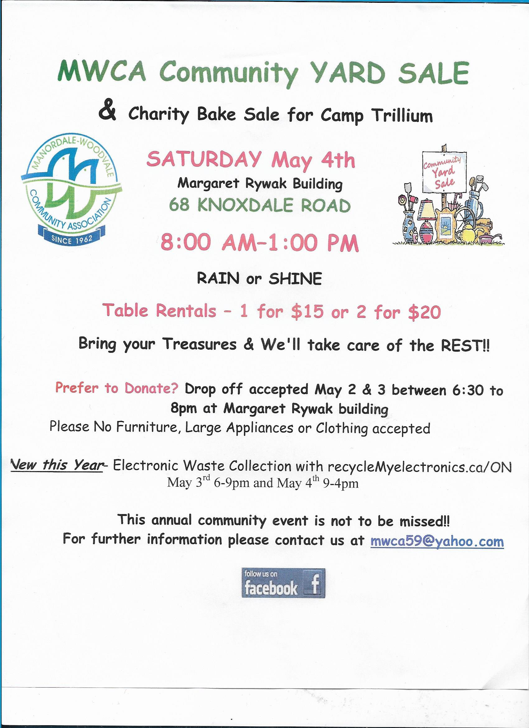 Garage Sale | Manordale-Woodvale Community Association (MWCA)